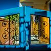 Gates on Santorini Coast, Greece