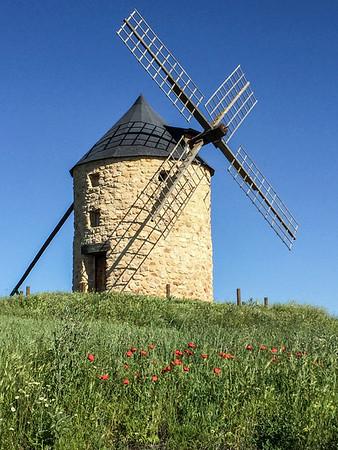Windmills near Campo de Criptana, La Mancha Spain