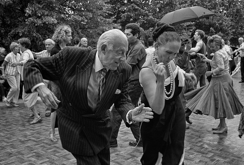 Dancing in Regent's Park, London.