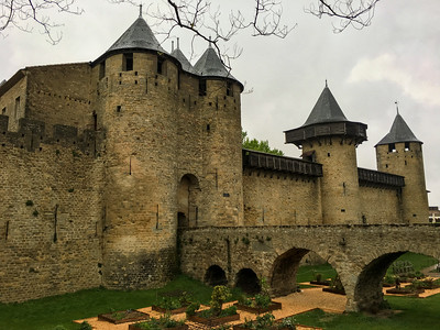 Ramparts and bridge, Carcassonne