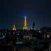 Rooftops to Eiffel Tower - Night