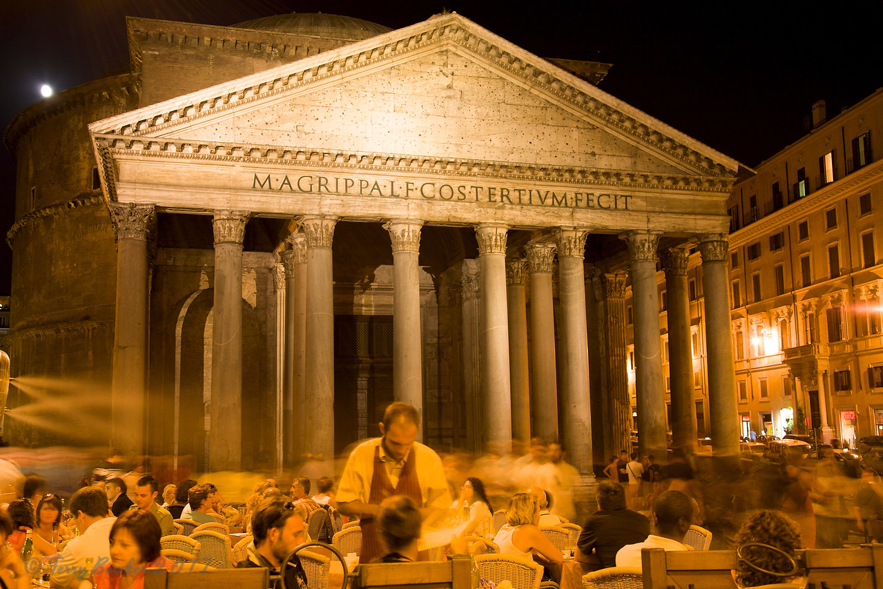 Dinner at theThe Pantheon, Rome, Italy