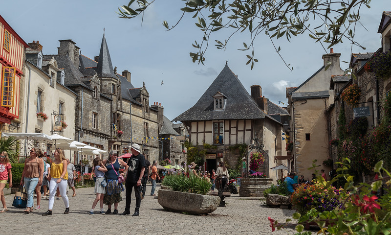 The Square, Rochefort en Terre, Brittany