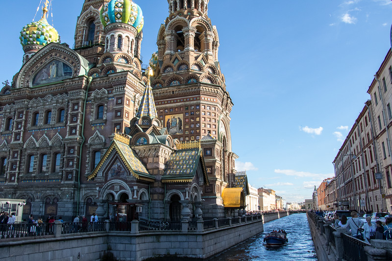Church of the Savior on Spilled  Blood, downtown St Petersburg