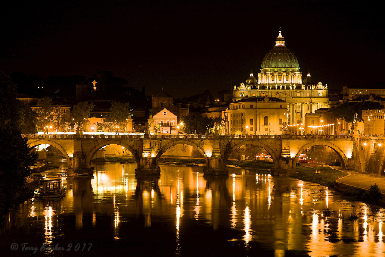 The Vatican on The Tiber River Rome Italy