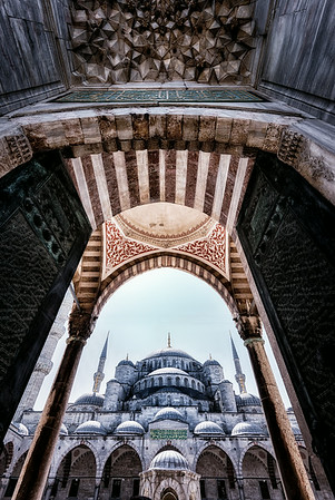 Blue Mosque Entry - Istanbul<br /> © Sharon Thomas