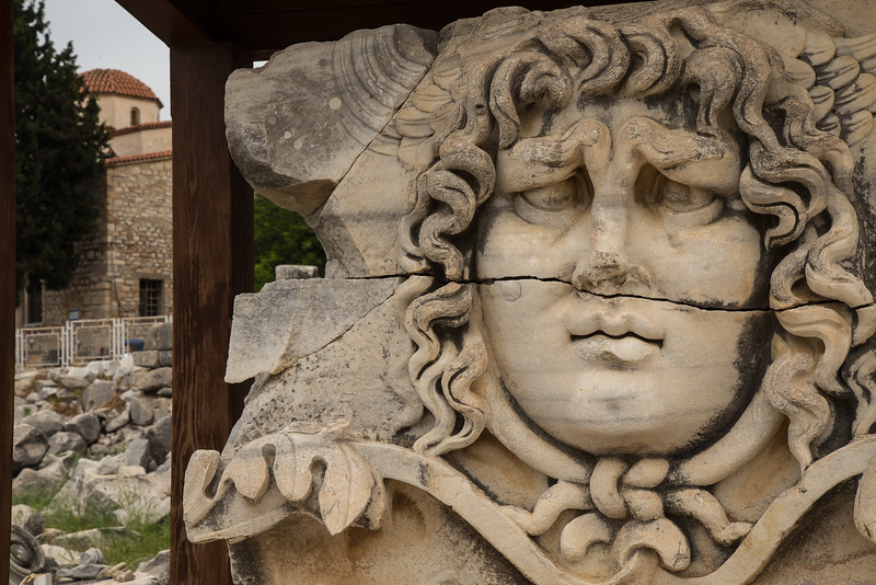 Medusa head, Didyma, near Ephesus, Turkey