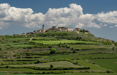 Hilltop village of Fores in Spain