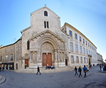 Panoramic View--Chartres Cathedral, Arles, France.