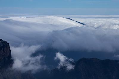 Swirling cloud, Caldera de Taburiente, La Palma