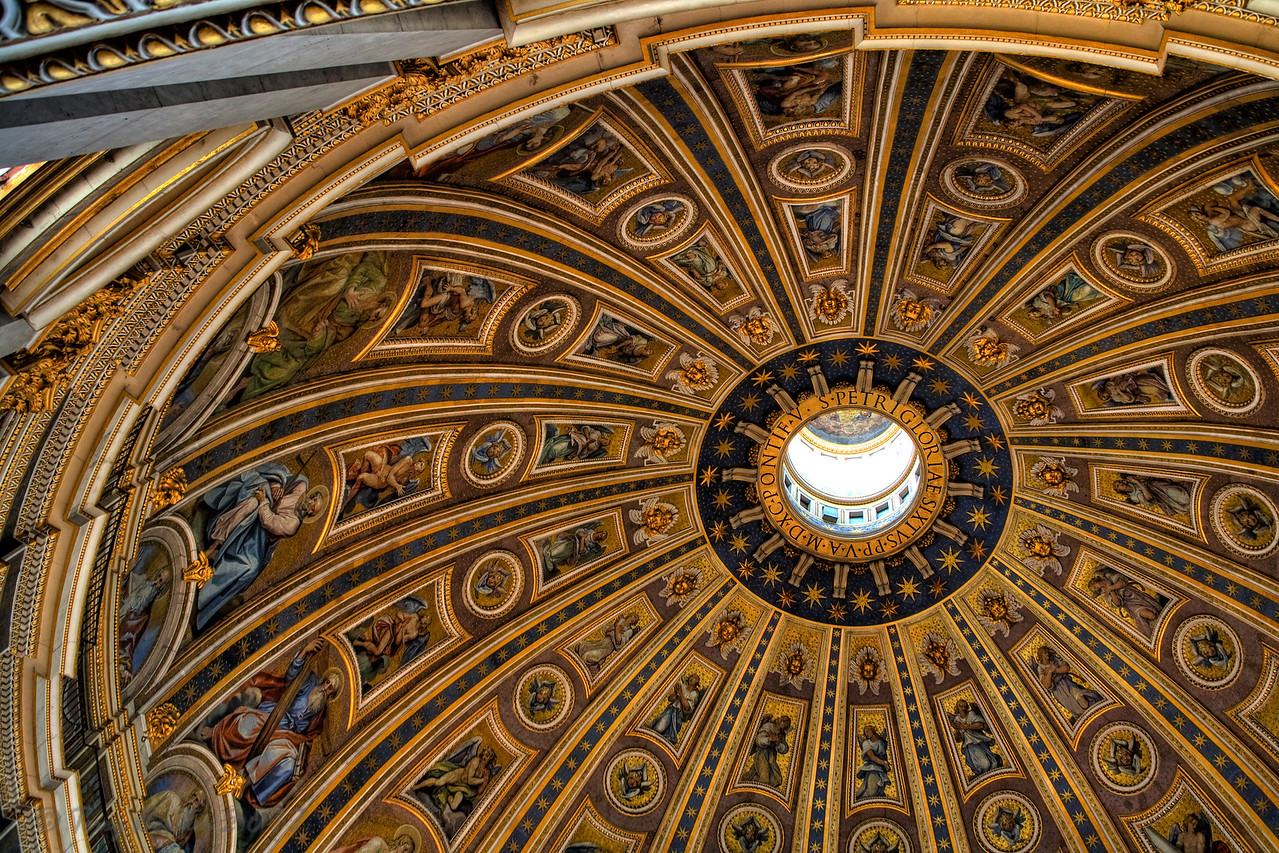 Dome of St. Peter's. The Vatican, Rome
