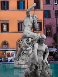 Fontana dei Nettuno Piazza Novana Rome Italy