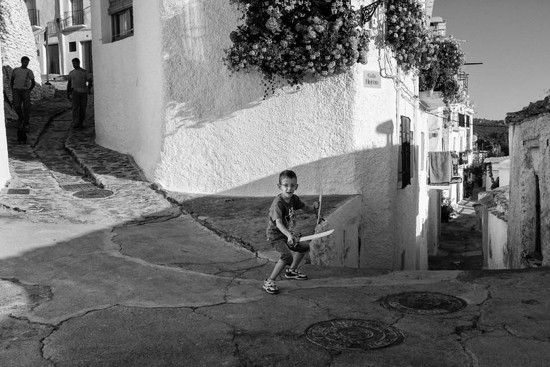 Boy guarding the way, Capileira, Spain