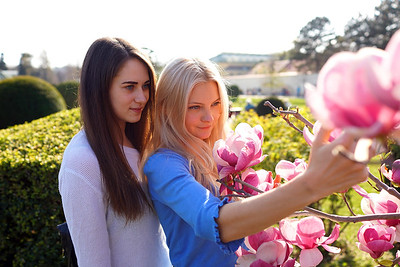 Posing with flower
