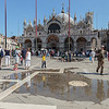 St Mark's Basilika, Venice, reflected in incoming tide