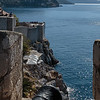 Dubrovnik - view out to sea from rampart walls