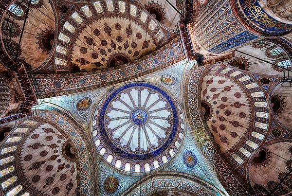 Blue Mosque ceiling - Istanbul<br /> © Sharon Thomas