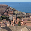 Rooftops and city walls of Dubrovnik