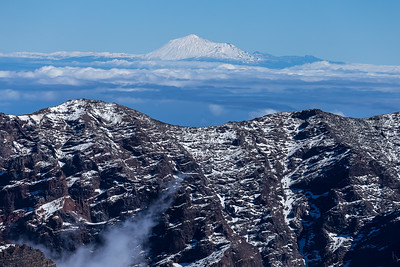 Mount Teide from La Palma caldera