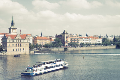 Prague, along the Vltava River.