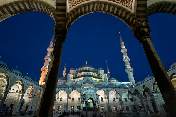 Blue Mosque at Sunset<br /> © Sharon Thomas