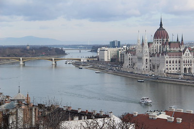 Landscape of the Danube at Budapest