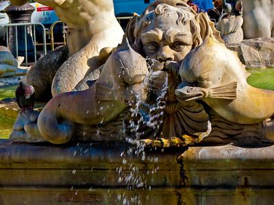 Fontana dei Moro Piazza Navona Rome Italy