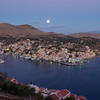 Moonset over Symi