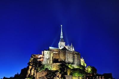 Mont Saint-Michel at night, Mont Saint-Michel, France