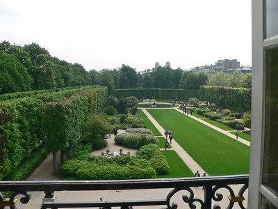Rodin Garden from window
