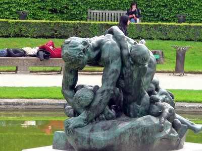 Rodin Pond Sculpture