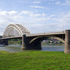 Waal Bridge at Nijmegen where a crucial battle during Operation Market Garden occurred. Depicted in the movie A Bridge Too Far.