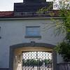 Main entrance to Dachau.
