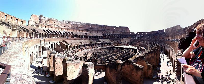 Inside the Colosseum, Rome, June 4, 2011.