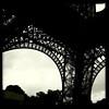 Underside of the Eiffel Tower, Paris, June 14, 2011.