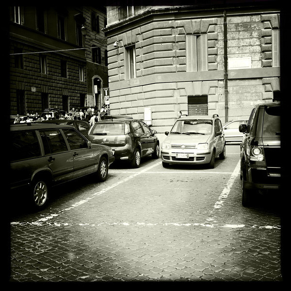 The rare and elusive parking space in its natural habitat in Rome, June 3, 2011.