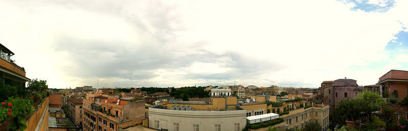 View from the 6th floor balcony, Hotel Lancelot, Rome, June 2, 2011.