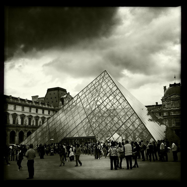 The top side of the Louvre pyramid, Paris, June 13, 2011.