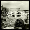 View of the Colosseum from the Barberini vineyard, Palatin hill, Rome, June 4, 2011.
