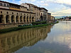 View of the hotel from Ponte Vecchio, Florence, June 8, 2011.
