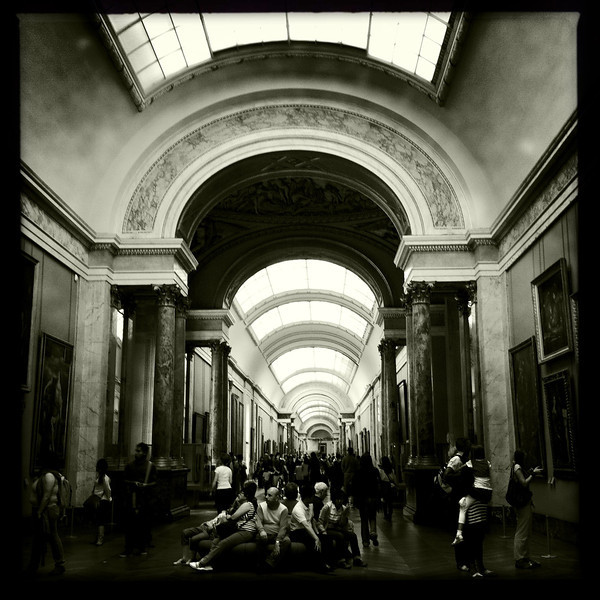 One of the wings of the Louvre, Paris, June 13, 2011.