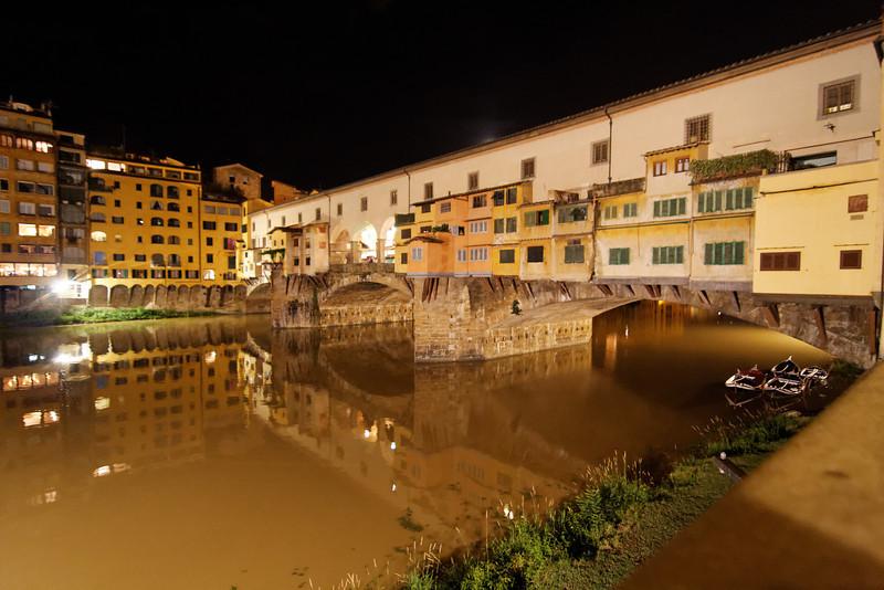 Ponte Vecchio at night.<br /> <br /> Florence_MC_06082011_007