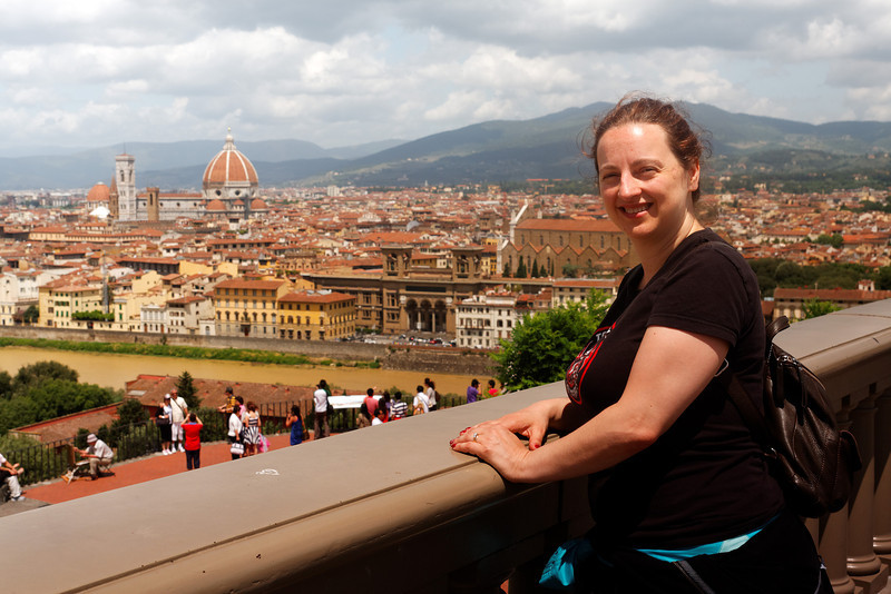 View of Adelle from Piazzale Michelangelo <br /> <br /> Florence_MC_06092011_006