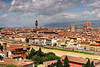View of the city from Piazzale Michelangelo with Palazzo Vecchio on the left and Basilica di Santa Maria del Fiore (Duomo) on the right.<br /> <br /> Florence_MC_06092011_001