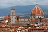 Close-up of Basilica di Santa Maria del Fiore (Duomo) from Piazzale Michelangelo.<br /> <br /> Florence_MC_06092011_003