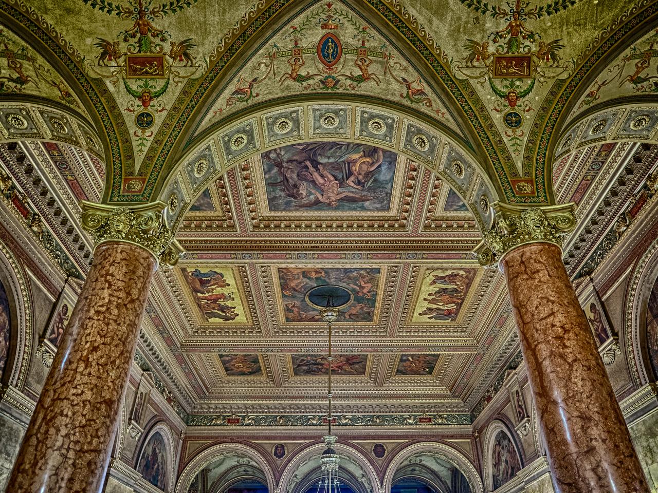 Inside the Budapest Opera House, Budapest, Hungary