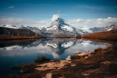 The Matterhorn on Lake Stellisee