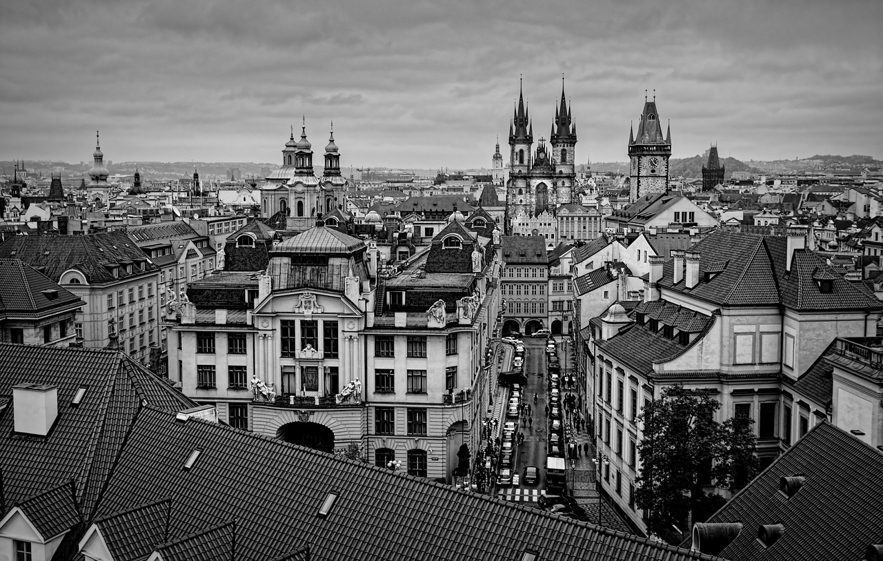 Prague overview, from the Klementium observation tower, Prague (Praha), Czech Republic II