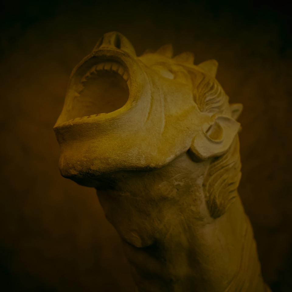 Model of a gargoyle, St. Vitus Church, Prague (Praha), Czech Republic