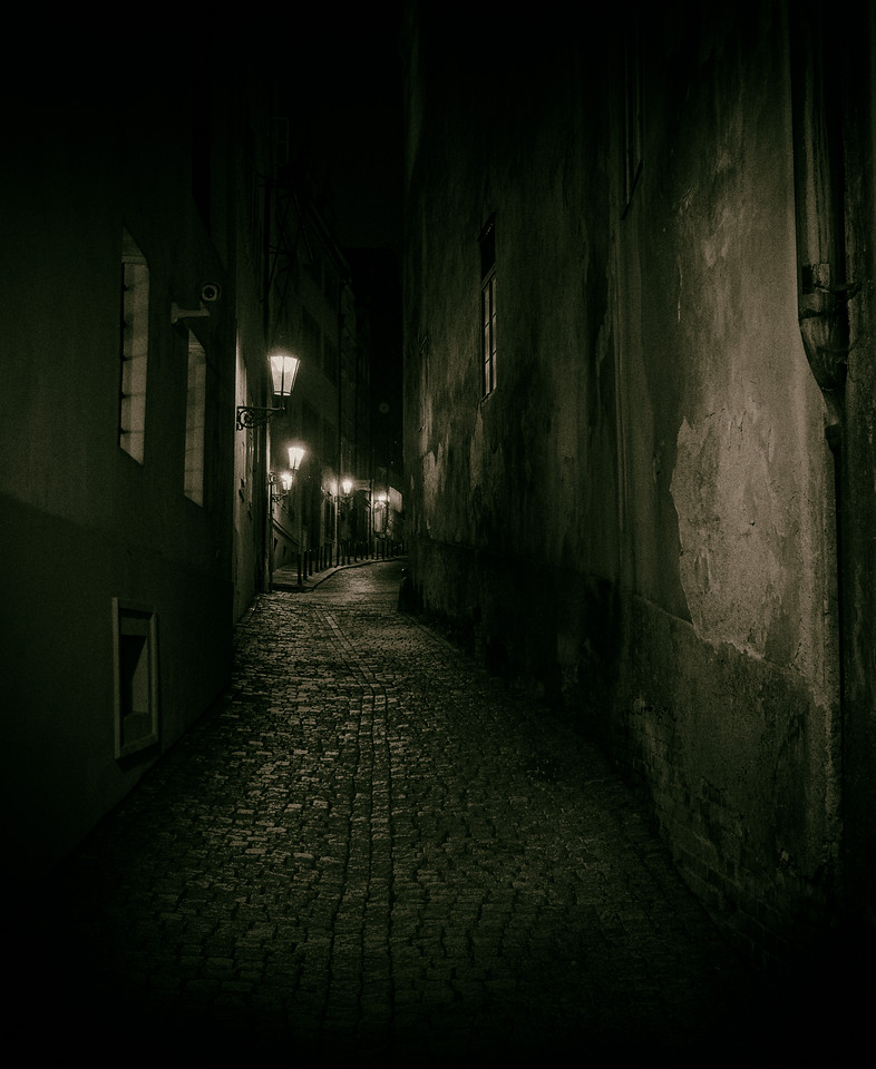 Prague alleyway, Prague (Praha), Czech Republic